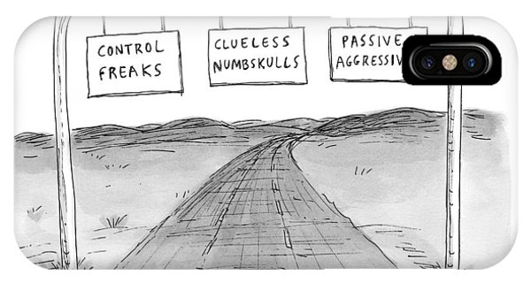 Highway iPhone Case - New Yorker September 7th, 2009 by Roz Chast
