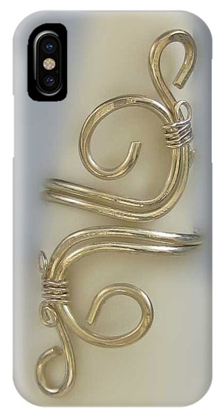 1153 Sterling Adjustable Ring IPhone Case