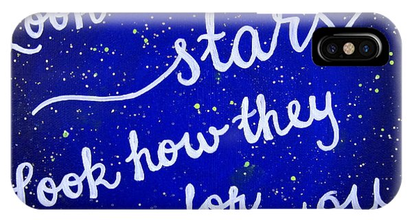 Coldplay iPhone Case - 11x14 Look At The Stars by Michelle Eshleman