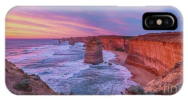 12 Apostles At Sunset Pano IPhone Case