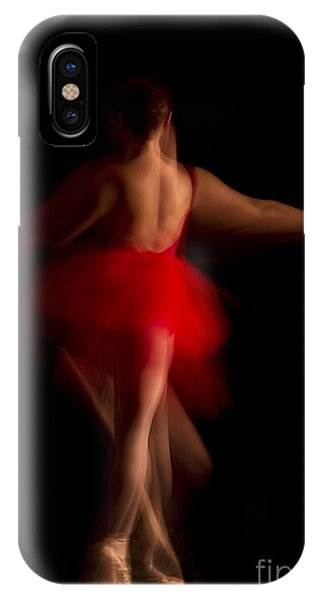 Ballet Dancer In Red Tutu IPhone Case