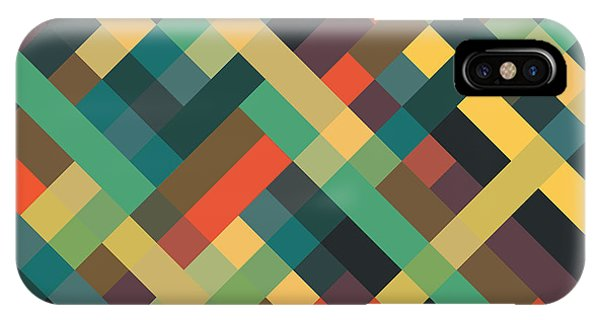 Retro iPhone Case - Geometric by Mike Taylor