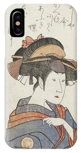 Behind The Scene iPhone Case - Kabuki Actor by British Library