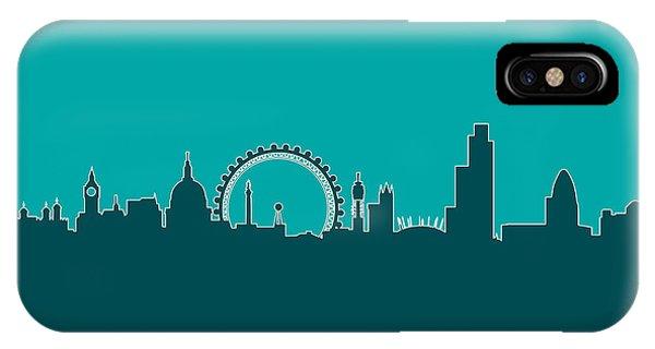 London iPhone Case - London England Skyline by Michael Tompsett