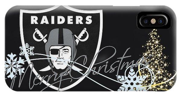 Football iPhone Case - Oakland Raiders by Joe Hamilton