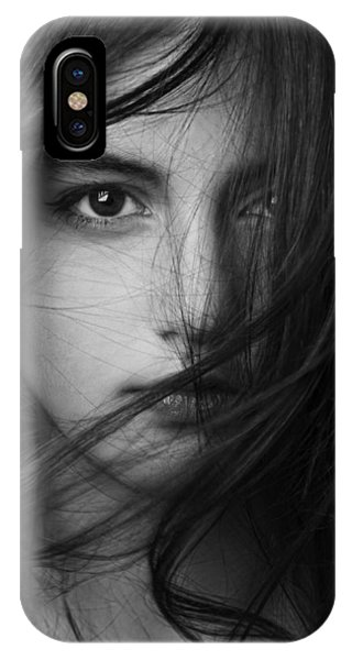 Hair iPhone Case - Untitled by Mehdi Mokhtari
