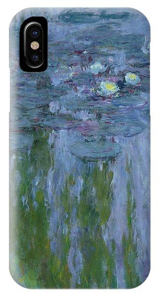 Dark Violet iPhone Case - Waterlilies by Claude Monet