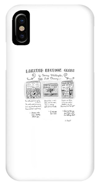 Dick Cheney iPhone Case - Limited Edition Cards by Roz Chast