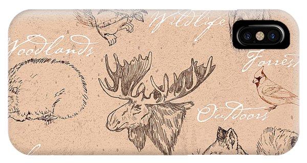 Wildlife Animal Pattern IPhone Case
