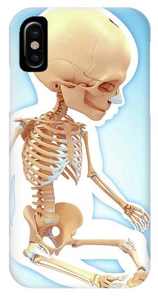 Baby's Skeletal System Phone Case by Pixologicstudio