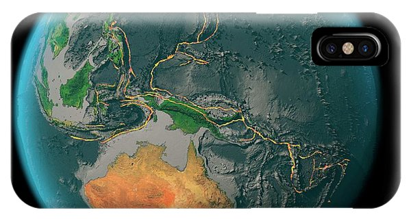 Fire Ball iPhone Case - Global Tectonics by Karsten Schneider/science Photo Library