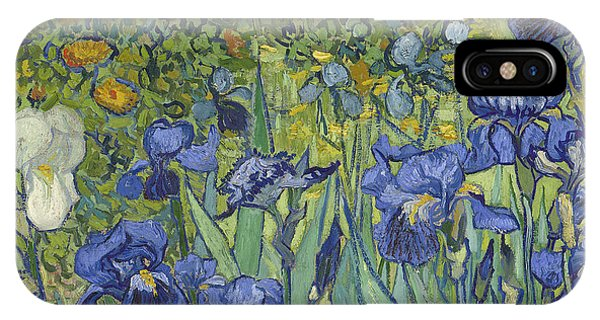 Botany iPhone Case - Irises by Vincent Van Gogh