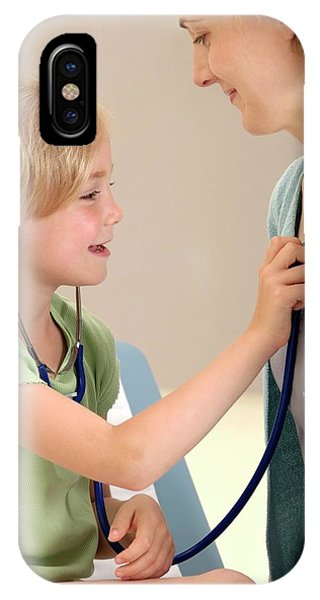 Human Interest iPhone Case - Paediatric Examination by Lea Paterson/science Photo Library