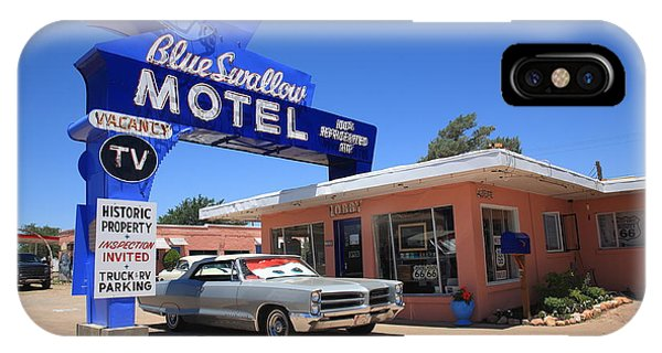 Route 66 - Blue Swallow Motel IPhone Case