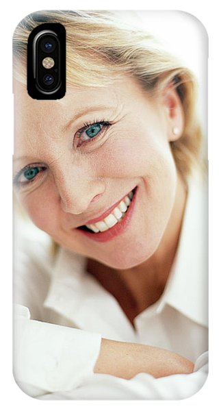 Smiling Woman Phone Case by Ian Hooton/science Photo Library