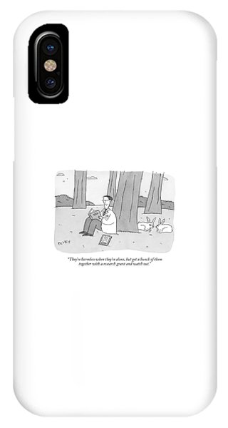 They're Harmless When They're Alone IPhone Case