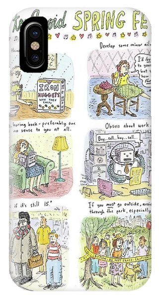 Developed iPhone Case - How To Avoid Spring Fever by Roz Chast