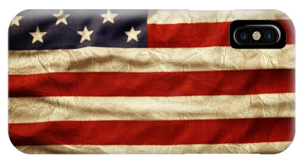 Landmark iPhone Case - American Flag 59 by Les Cunliffe