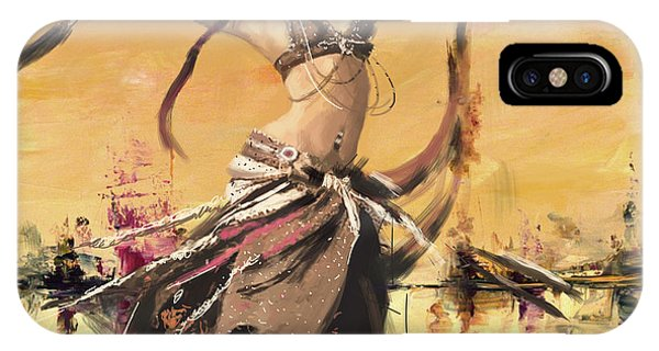 Corporate Art Task Force iPhone Case - Abstract Belly Dancer 14 by Corporate Art Task Force