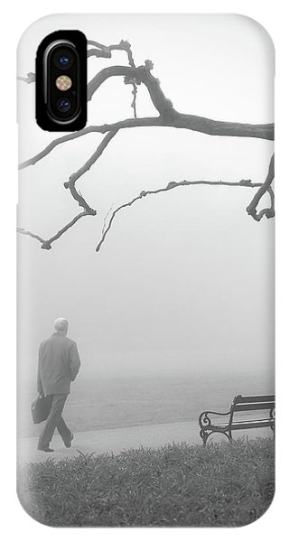 Park Bench iPhone Case - Untitled by Anna Niemiec