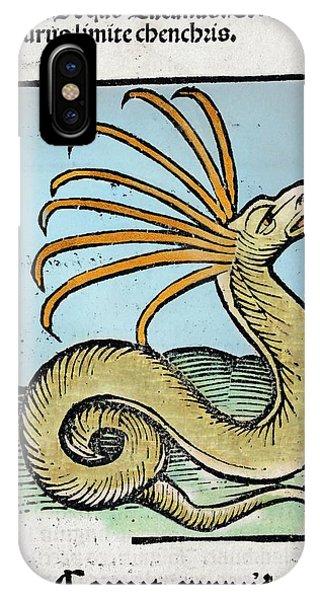 Behaviour iPhone Case - 1491 Cerastes Lure Snake Hortus Sanitatis by Paul D Stewart