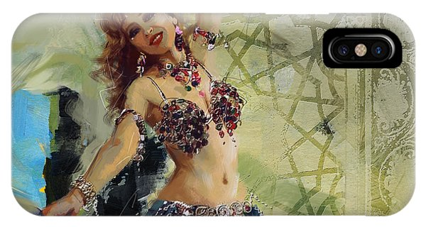 Corporate Art Task Force iPhone Case - Abstract Belly Dancer 13 by Corporate Art Task Force