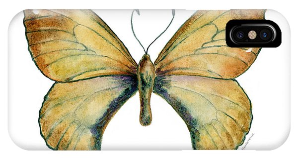 15 Clouded Apollo Butterfly IPhone Case