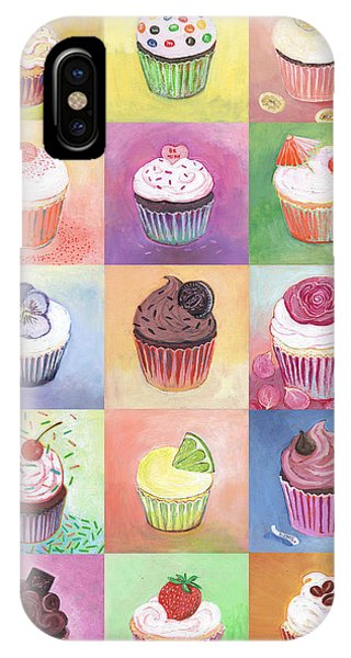 Cake iPhone Case - 15 Cupcakes by Jennifer Lommers