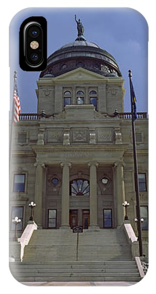 Capitol Building iPhone Case - Facade Of A Government Building by Panoramic Images