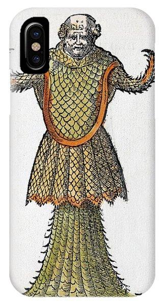 Squid iPhone Case - 1554 Rondelet's Sea Monk Monster by Paul D Stewart