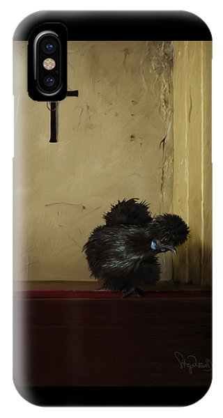 16. Black Silkie IPhone Case