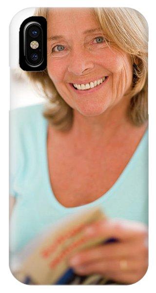 Human Interest iPhone Case - Happy Senior Woman by Ian Hooton/science Photo Library