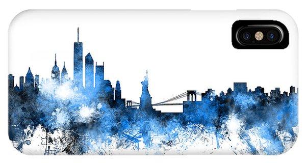 New York iPhone Case - New York Skyline by Michael Tompsett