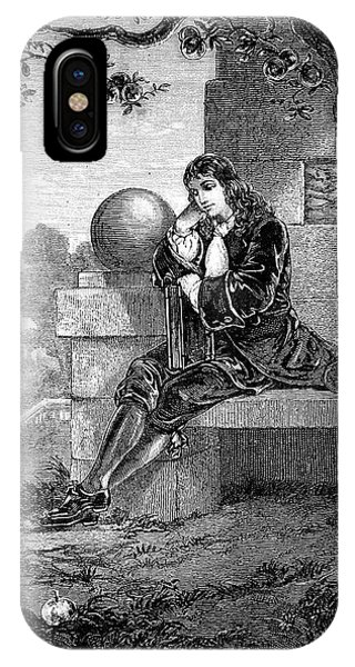 1600s Engraving Of Sir Isaac Newton IPhone Case