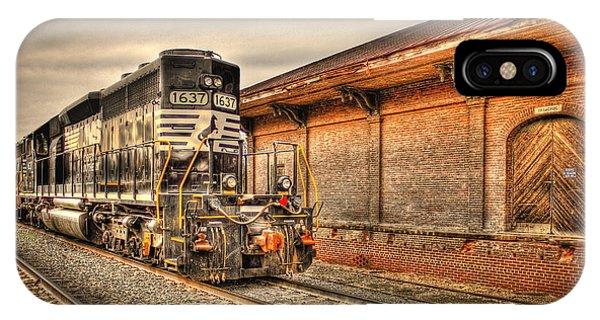 Locomotive 1637 Norfork Southern IPhone Case