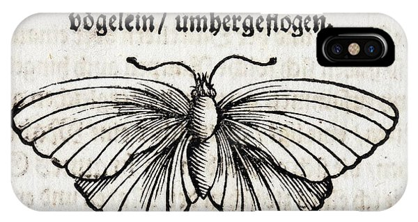 1683 Maria Merian Black Veined White Phone Case by Paul D Stewart