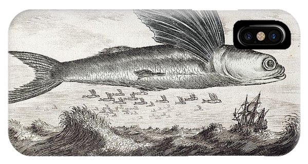 1693 Flying Fish Johan Nieuhof IPhone Case