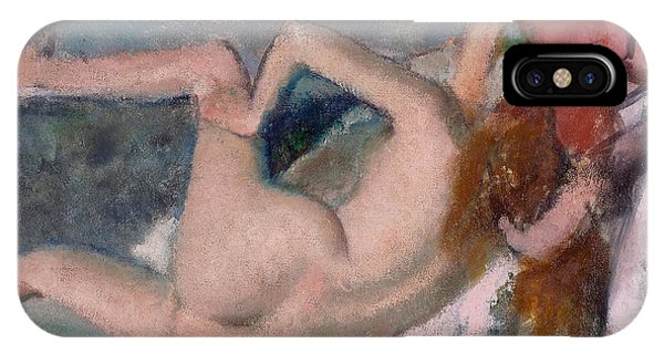 Impressionistic iPhone Case - After The Bath by Edgar Degas
