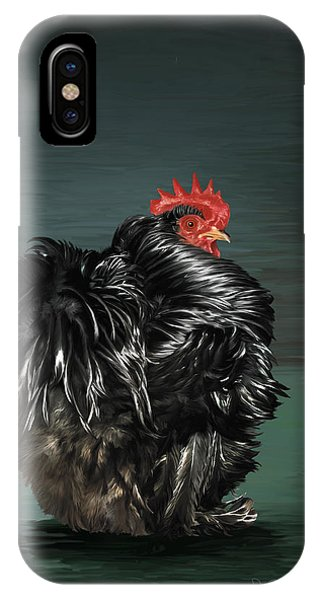 17. Black Frizzle Cochin Bantam IPhone Case