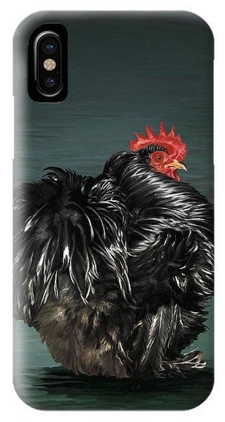 17. Black Frizzle Cochin Bantam IPhone Case