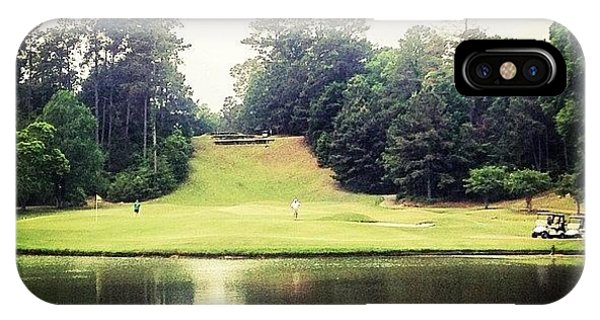 Sports iPhone Case - #17 The Bluffs #golf #iphone5 by Scott Pellegrin
