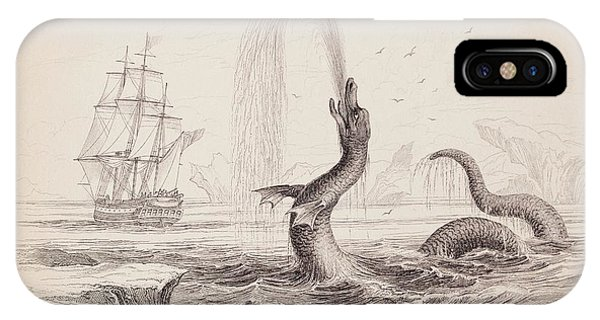 Serpent iPhone Case - 1734 Hans Egede Sea Monster Serpent by Paul D Stewart