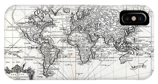 1748 Antique World Map Versuch Von Einer Kurzgefassten Karte  IPhone Case