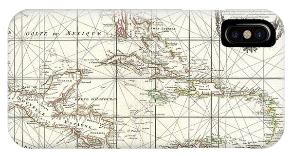 iPhone Case - 1762 Zannoni Map Of Central America And The West Indies by Paul Fearn