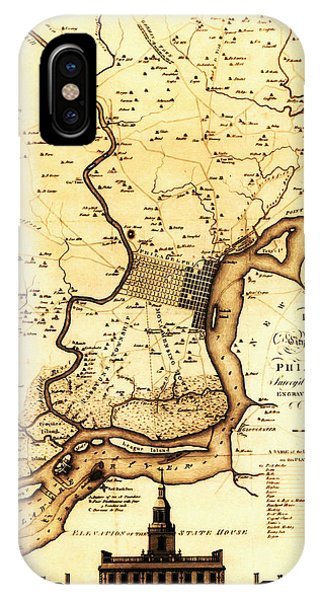 1777 Philadelphia Map IPhone Case