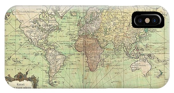 1778 Bellin Nautical Chart Or Map Of The World IPhone Case