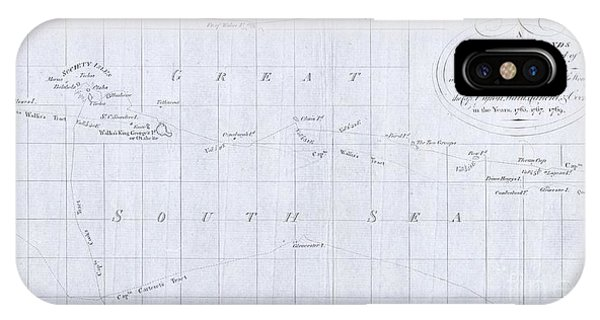 iPhone Case - 1780 Cook  Hogg Map Of Tahiti  by Paul Fearn