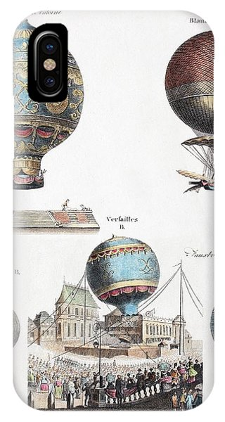 King Charles iPhone Case - 1783 World's First Flying Balloons Design by Paul D Stewart