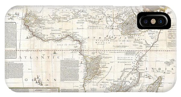 iPhone Case - 1787 Boulton  Sayer Wall Map Of Africa by Paul Fearn