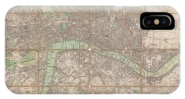 iPhone Case - 1795 Bowles Pocket Map Of London by Paul Fearn